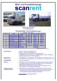 Preisliste Scanrent & AVB - Scania Schweiz AG