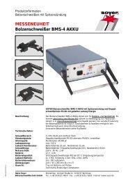 MESSENEUHEIT Bolzenschweißer BMS-4 AKKU - Soyer-shop.de