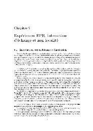 Expériences EPR, interaction d'échange et non localité - Admiroutes