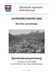 Rechnung 2008 - Brunnen