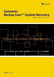 Symantec Backup Exec™ System Recovery
