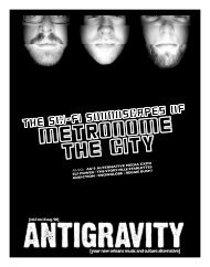 August 2006 (PDF) - Antigravity Magazine