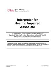 Educational Interpreter for Hearing Impaired - Ohio Board of Regents