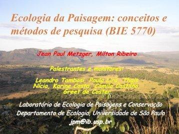 AULA 1 - Departamento de Ecologia - USP