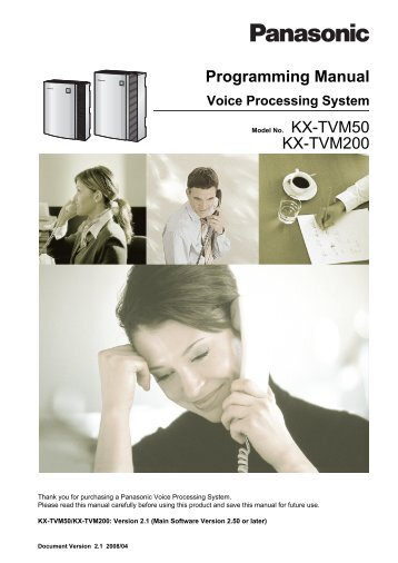 programming manual for virtual sip trunk card kx panasonic rh yumpu com tvm50 programming manual panasonic tvm50 programming manual