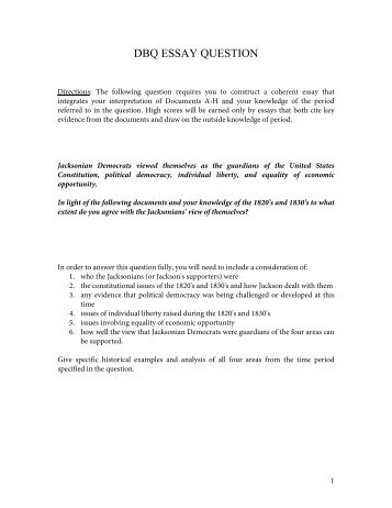 Reflective Essay English Class Jacksonian Democracy Dbq  Mr Manos High School Senior Essay also Research Proposal Essay Example Jacksonian Magazines High School Personal Statement Essay Examples