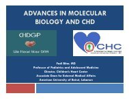 ADVANCES IN MOLECULAR BIOLOGY AND CHD