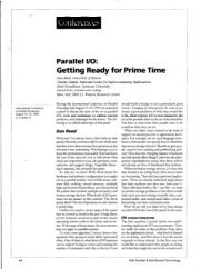 Parallel I/O: Getting Ready for Prime Time - Northwestern University