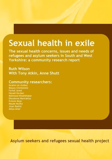 Sexual Health in Exile – is now available for download by clicking here