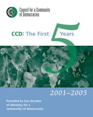 Five Year Report - Council for a Community of Democracies