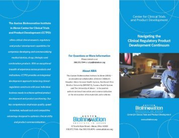 CCTPD Informational Brochure (PDF) - The Austen BioInnovation ...