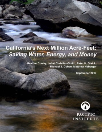 California's Next Million Acre-Feet: Saving Water ... - Circle of Blue