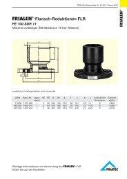 FRIALEN® -Flansch-Reduktionen FLR PE 100 SDR 11