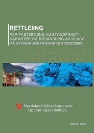 Klage på standpunktkarakter - Hordaland fylkeskommune