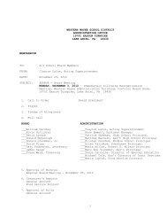 agenda-december 2012 - Western Wayne School District