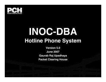INOC-DBA: Hotline Phone System
