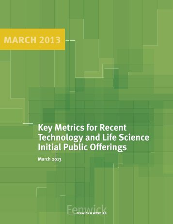 Technology and Life Sciences IPO Survey ... - TechLaw Group