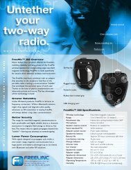 FreeMic™ 200 Overview Greater Reliability Better Security Lower ...