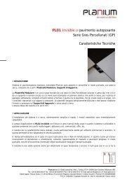 PL01 Invisible GP pavimento autoposante Serie Gres ... - Planium