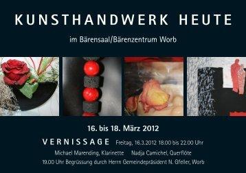 KunsthandwerK heute - Steinhölzli Berufsbildung
