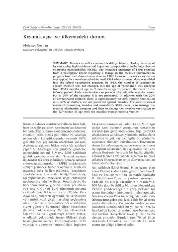 Çocuk Sağlığı 48-3.indd - Çocuk Sağlığı ve Hastalıkları Dergisi