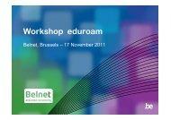 Workshop eduroam - Belnet - Events