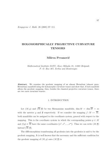 HOLOMORPHICALLY PROJECTIVE CURVATURE TENSORS ...