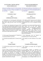 Satzung des BSB - Betrieb für Sozialdienste Bozen