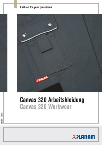 Canvas 320 Arbeitskleidung Canvas 320 Workwear