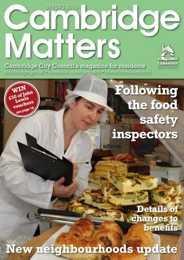 Following the food safety inspectors - Cambridge City Council