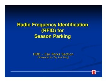 Radio Frequency Identification (RFID) for Season Parking