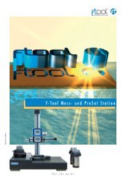 F-Tool Mess- und Preset Station - F-Tool International AG