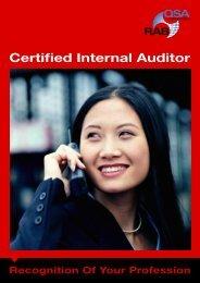 Certified Internal Auditor - Rabqsa.com