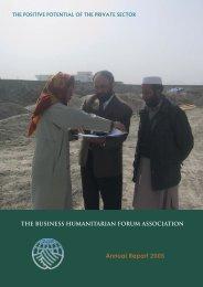 Annual Report 2005 - Business Humanitarian Forum