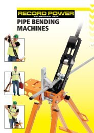 PIPE BENDING MACHINES - D & M Tools