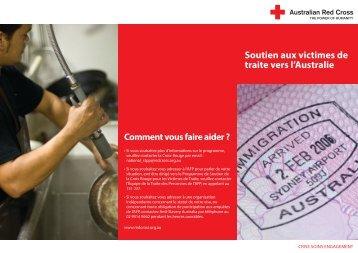 Soutien aux victimes de traite vers l'Australie - Australian Red Cross