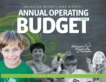 Operating Budget 2013/14 - Arlington Heights Park District