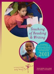 Teaching of Reading & Writing - The Reading & Writing Project