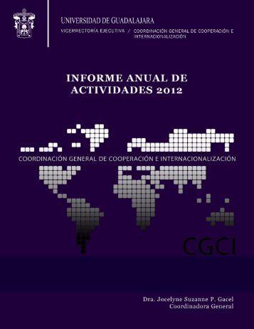 Informe de Actividades CGCI 2012 - Coordinación General de ...