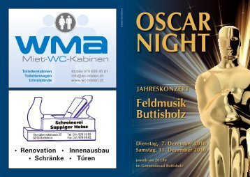oscar night - Feldmusik Buttisholz