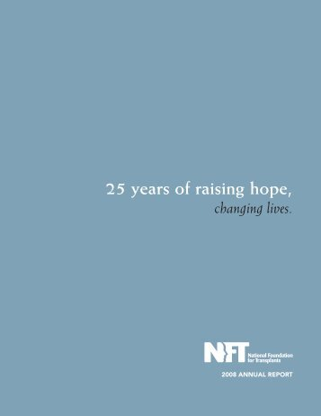 to download our 2008 Annual Report - National Foundation for ...