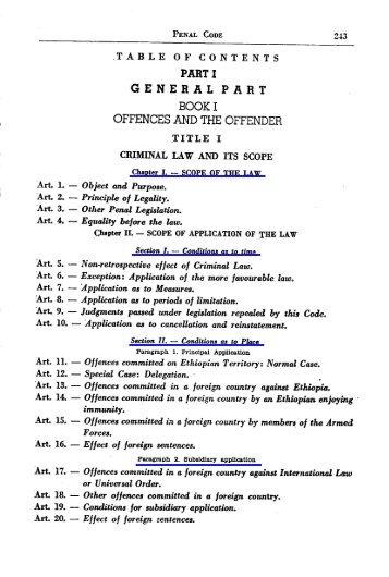 (Penal) Code (English)