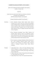 pemerintah propinsi daerah istimewa yogyakarta - Pemda DI ...