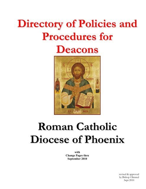 Directory of Policies and Procedures for Deacons - Diocese
