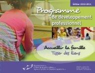Programme de développement professionnel 2010-2011 - Rcpeqc.org