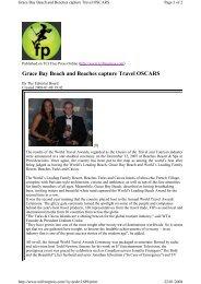 TCI Free Press 08-01-2008 - World Travel Awards