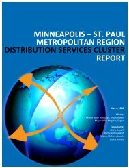 St. Paul Metropolitan Region Distribution Services Industry Cluster