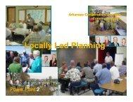 Locally Led Planning (PowerPoint) – Arkansas - nasca