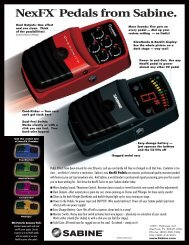 NexFX Pedals Color Brochure - Sabine, Inc.