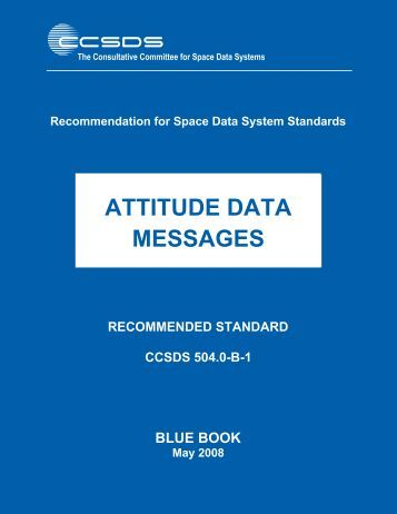 Attitude Data Messages - CCSDS